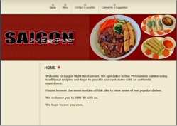 Saigon Night Restaurant by Website Builder